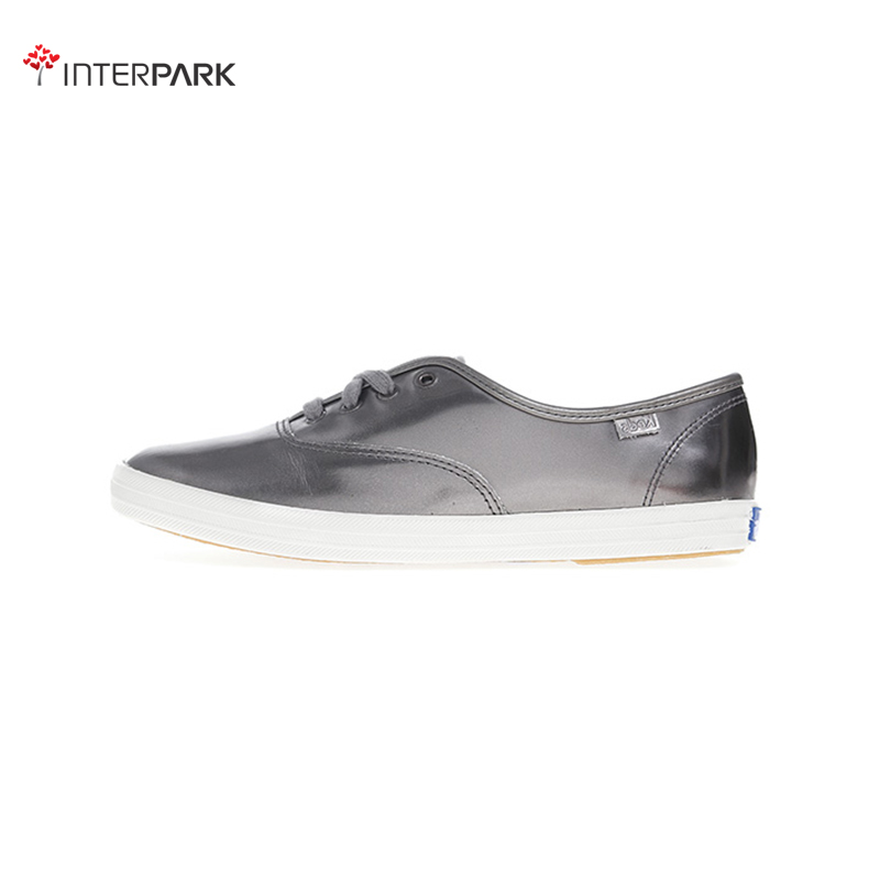 Korea genuine direct mail keds WH56021 black metallic patent leather fashion sports shoes casual shoes shoes