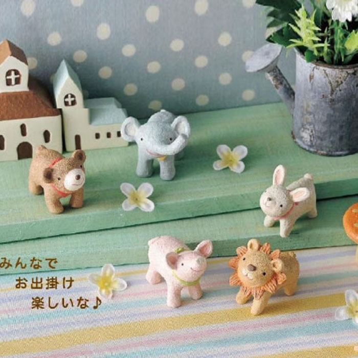 Korea stationery creative gifts makeup fans idyllic home decoration good times meng edition resin animal ornaments