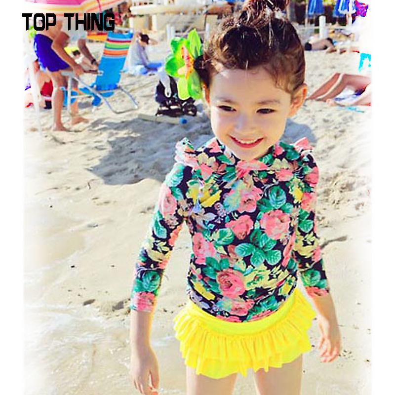 6f3d26257b788 Buy Korean children swimwear girls lovely princess childrens swimwear spa  warm sand beach long sleeve sun protection swimwear in Cheap Price on  Alibaba.com