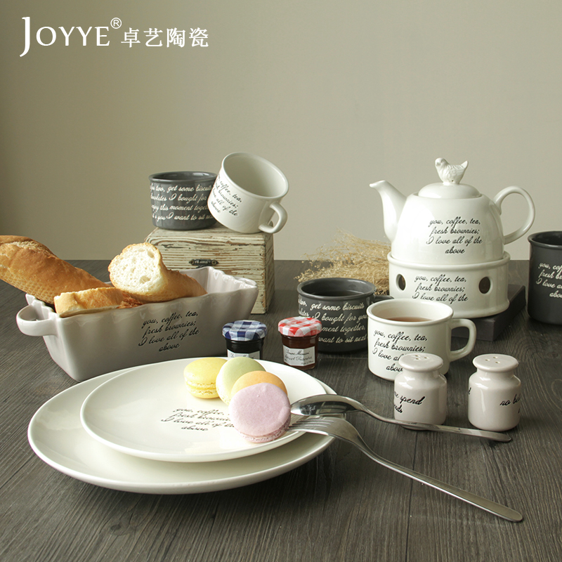 Korean continental coffee set ceramic wedding gifts upscale coffee mugs suit afternoon tea set