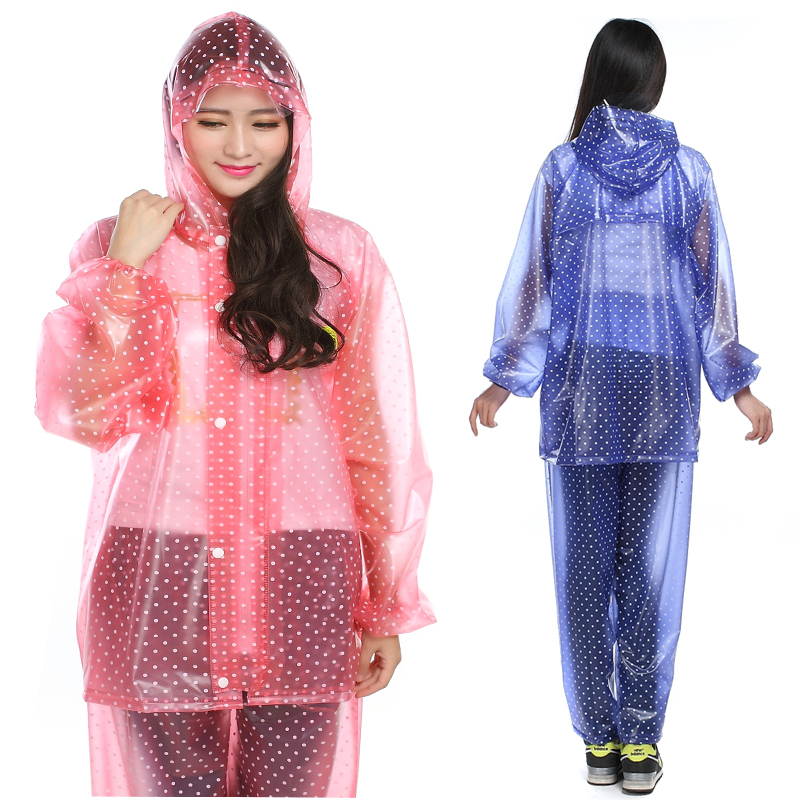 Korean fashion crystal crystal crystal crystal split raincoat rain pants suit raincoat raincoat rain pants +