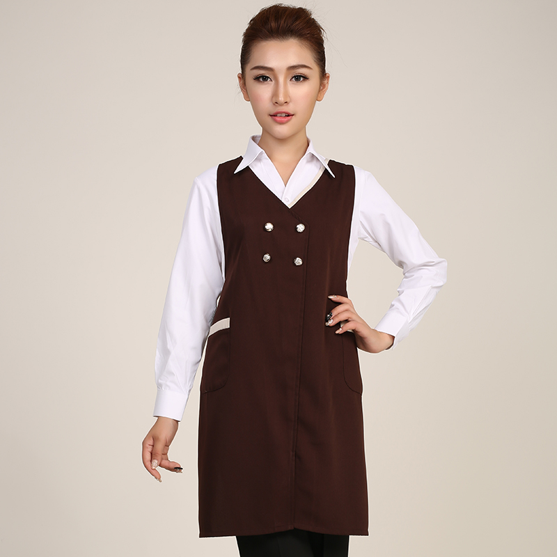 Korean fashion household cleaning antifouling apron restaurant waiter aprons aprons overalls custom printed logo