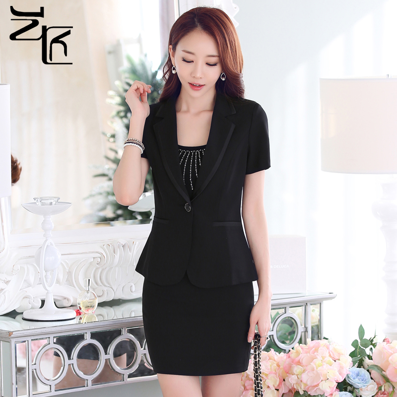 Korean fashion suit ol ladies dress overalls tooling sleeved overalls summer wear skirt suits ladies wear skirt
