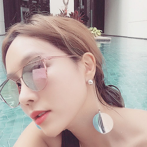 Korean fashion three-dimensional geometric ear jewelry simple long section of chain in europe and america atmospheric ear rings earrings female wild personality