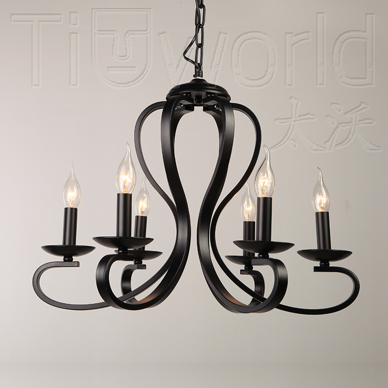 Korean garden restaurant chandelier modern minimalist creative personality living room lights nordic white wrought iron chandelier american