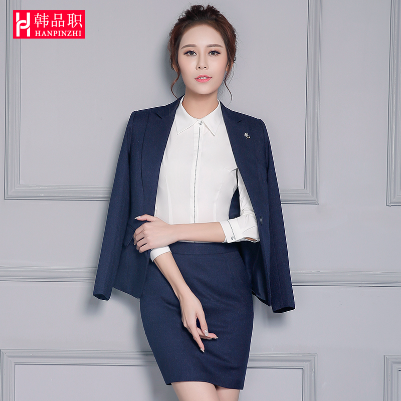 2412b1c1e4d Get Quotations · Korean goods duty spring and autumn new professional  women s fashion suit suit business suits overalls female