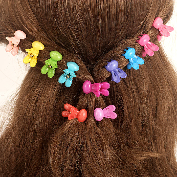 Korean hair accessories hair caught bangs hairpin headdress plate made of acrylic baby children hairpin hairpin cute small catch clip trumpet