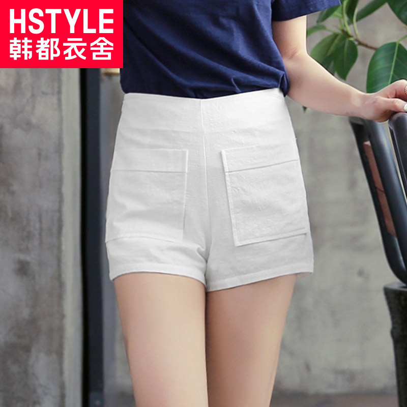Korean homes have clothes 2016 summer new women korean cotton straight casual shorts simple wild korean version of the repair the body