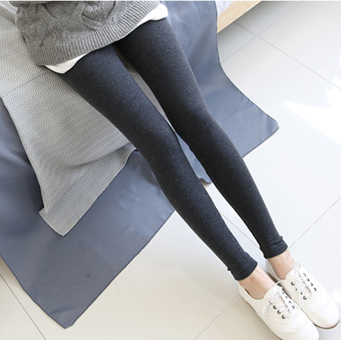 Korean pregnant women leggings cotton trousers fall and winter 2015 pregnant women pants spring and autumn thick section was thin feet care belly pants