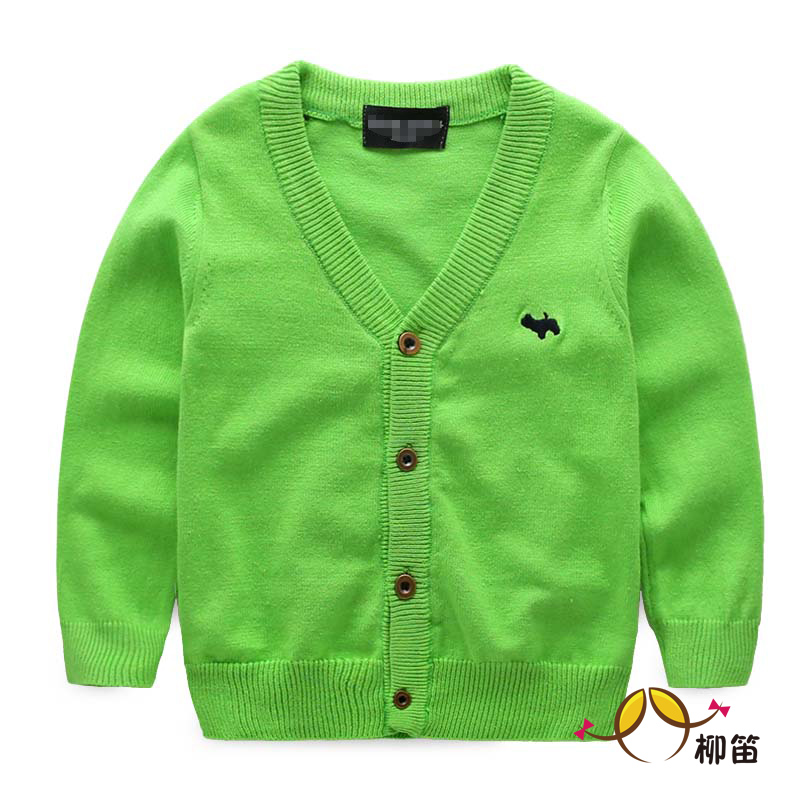 Korean version of baby boys and girls sweater cardigan sweater coat spring and autumn sweater kids 2016 new spring boutique