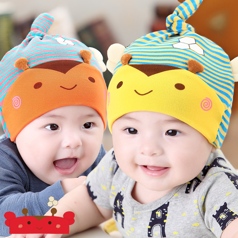 Korean version of spring and autumn baby hat children set of head cap baby hat baby hat for men and women 0713