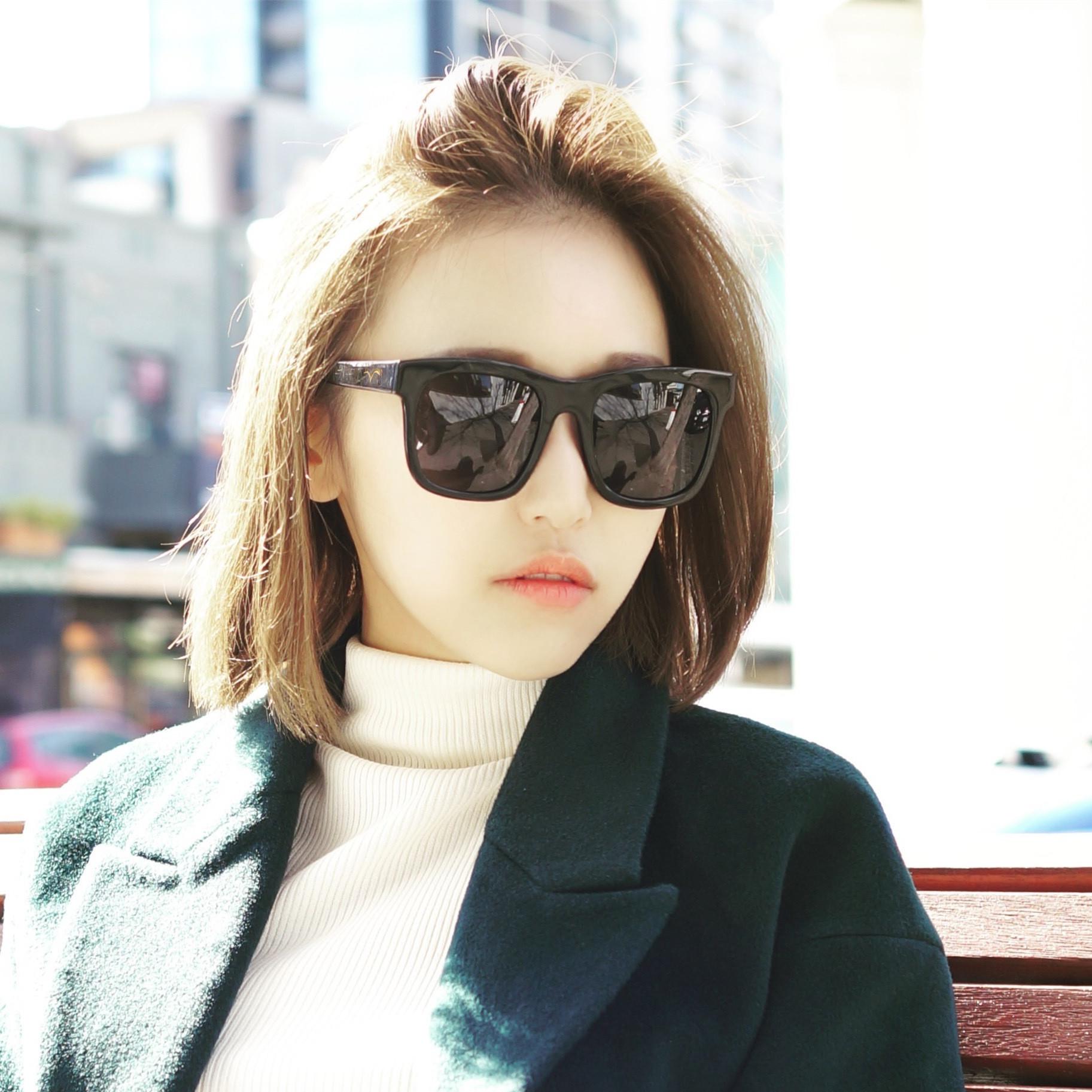 30c6b2b90a Korean version of the big box colorful polarized sunglasses driving  sunglasses tide male models female sun