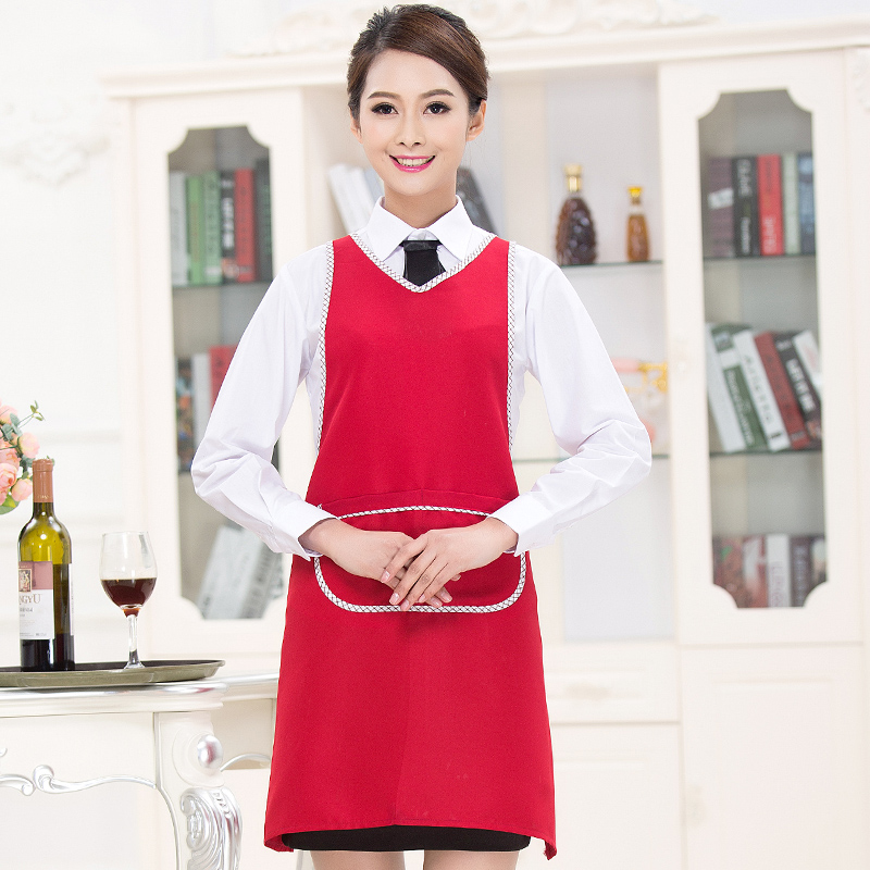 Korean version of the coffee tea shop apron custom printed logo fashion kitchen aprons aprons overalls men women