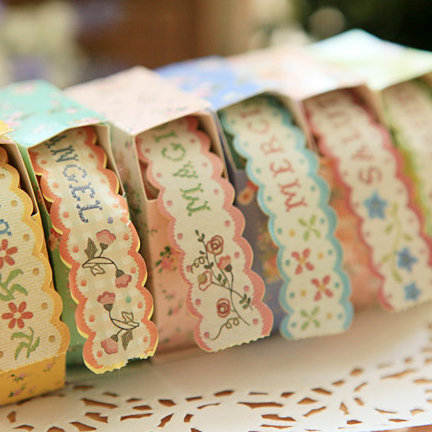 Korean version of the creative aesthetic small pastoral style floral imitation cloth paper tape boxed paper tape diy decorative lace