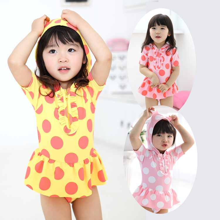 59f91a0fea Get Quotations · Korean version of the cute infant children siamese skirt  swimsuit girls swimsuit children swimsuit baby swimwear