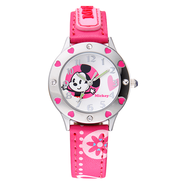 Korean version of the girl child watches disney disney mickey primary school for boys and girls waterproof pointer watch boys