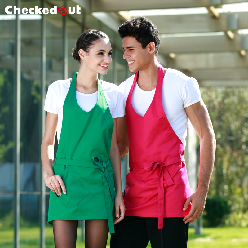 Korean version of the lovely home kitchen cooking apron checkedout restaurant waiter aprons work aprons short paragraph