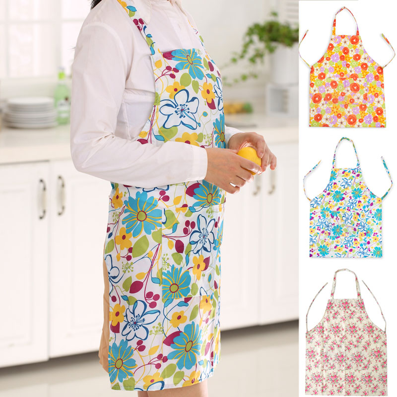Korean version of the lovely home printing pvc waterproof anti sleeveless dress fashion princess apron kitchen oilproof thick apron