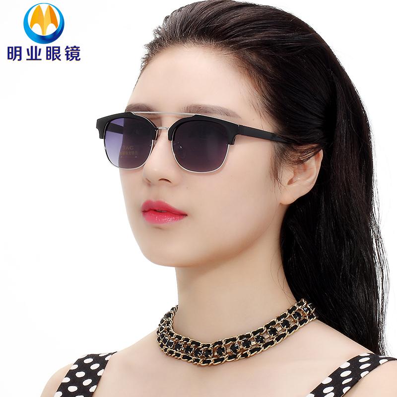a745e3d173c Get Quotations · Korean version of the ming industry oval 2016 star models sunglasses  men sunglasses polarized sunglasses female