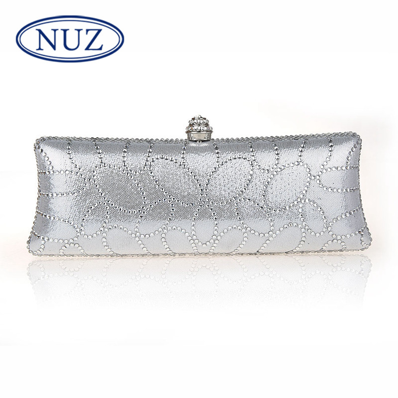 Korean version of the nuz pleather hong kong brand ladies fashion dresses 2016 new diamond package clutch bag banquet 0298