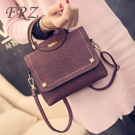 Korean version of the retro handbags handbags 2016 new bag small square package tide fashion shoulder messenger bag simple packet