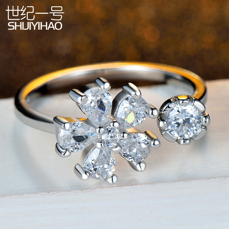 Korean version of the s925 silver ring nvjie original fashion nvjie opening fashion valentine's day gift necessary