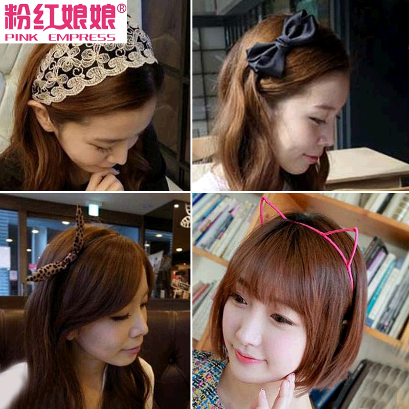 Korean version of the small jewelry simple hair band hair clips hair accessories broadside bow hair bands female rabbit ears headband hairpin headdress