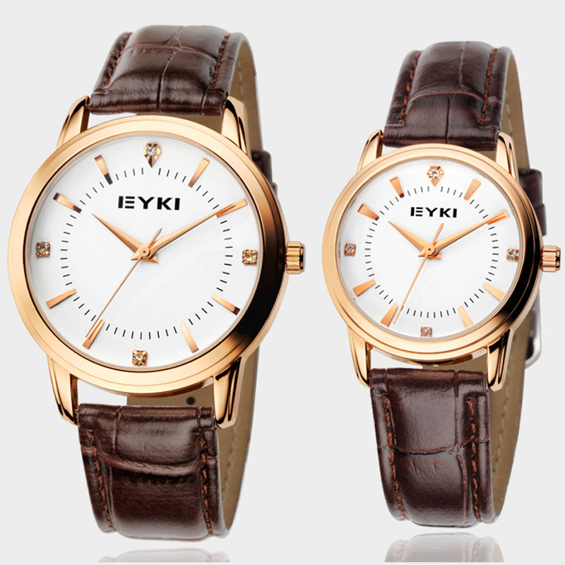 Korean version of the student couple watches one pair price eyki 120 minimalist belt male watch fashion watch female models