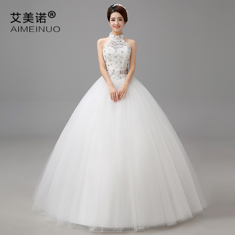 Get Quotations Korean Wedding Dress 2016 Spring And Summer New Princess Diamond Lace Version Of