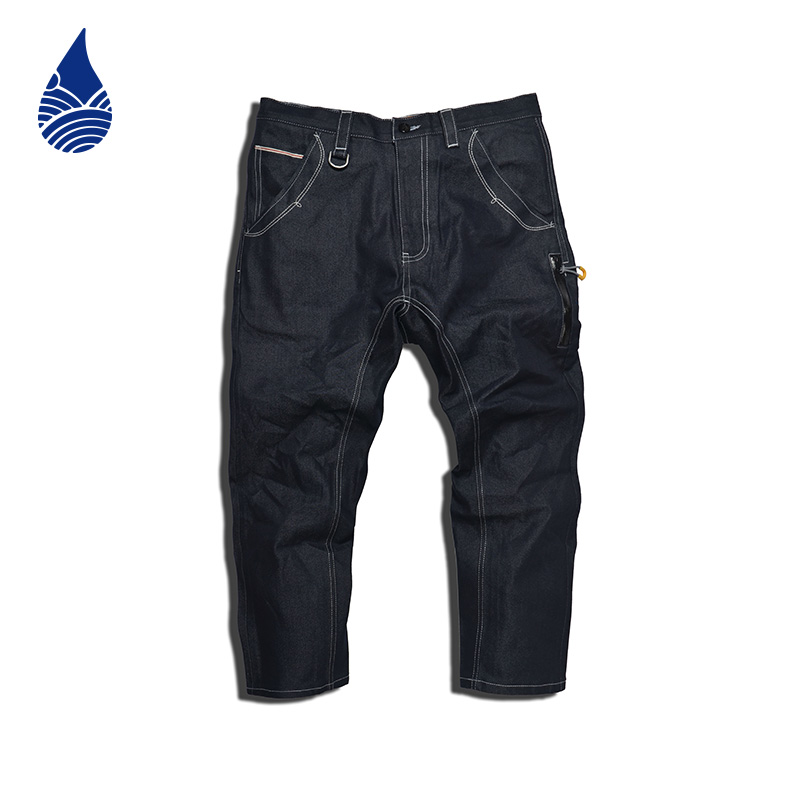 Krbl of koraku blue primary colors red ear denim jeans washed jeans slim tide brand original eight hours 625WL