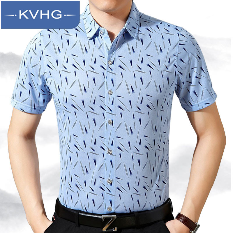 Kvhg summer business casual men 2016 new men pointed collar short sleeve floral shirt fashion wild bottoming shirt 5531