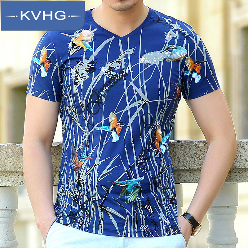 Kvhg thin section of business casual fashion men short sleeve t-shirt 2016 new men's middle-aged father loaded iron 3681