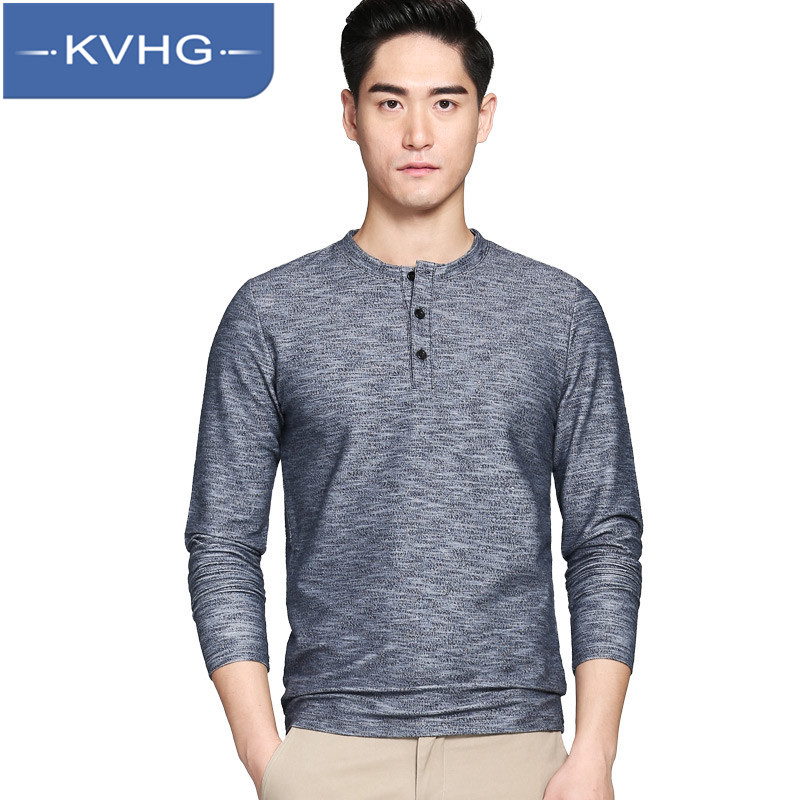 KVHG2016 fashion youth long sleeve t-shirt men's solid color round neck t-shirt 2016 new fall coat 1198
