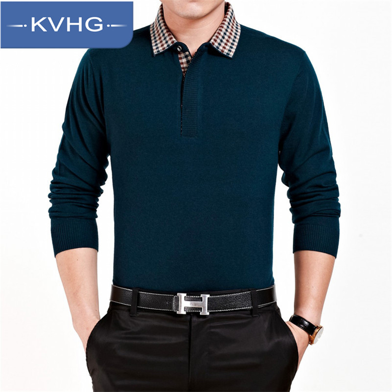 KVHG2016 new middle-aged men long sleeve t-shirt sweater knit sweater thin section of middle-aged father loaded 8 703