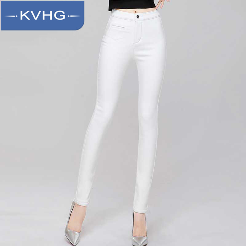 KVHG2016 new ms. waist was thin tight jeans pants feet outer wear leggings pants thin section 3755