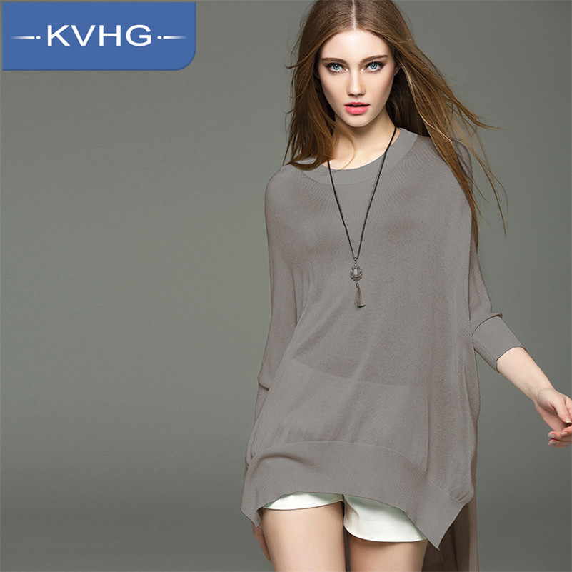 KVHG2016 new women's fashion loose and comfortable seven points sleeve cardigan sweater female hedging shirt tide 4763