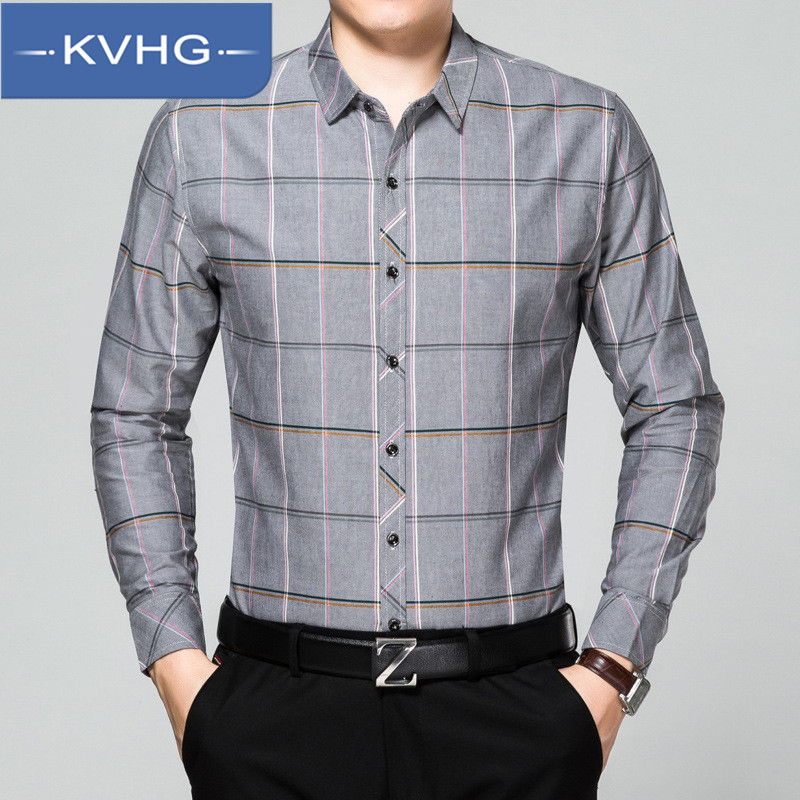 KVHG2016 sleeved shirt thin section of middle-aged father loaded men's winter casual and comfortable loose shirt tide 9341