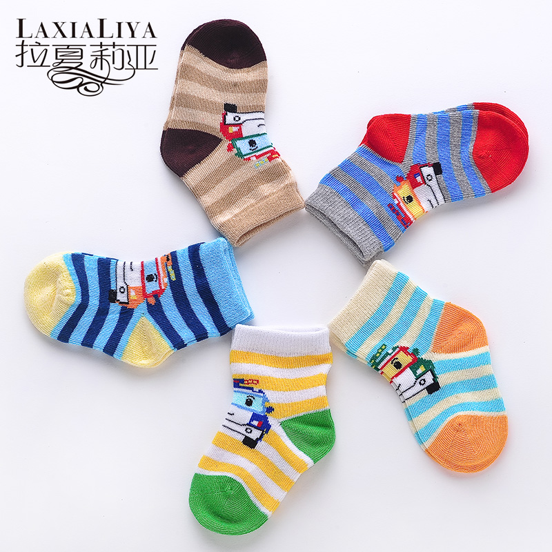 La chaux leia newborn male baby cotton socks baby boy socks spring and autumn infants and young children 0-1-2-3-year-old