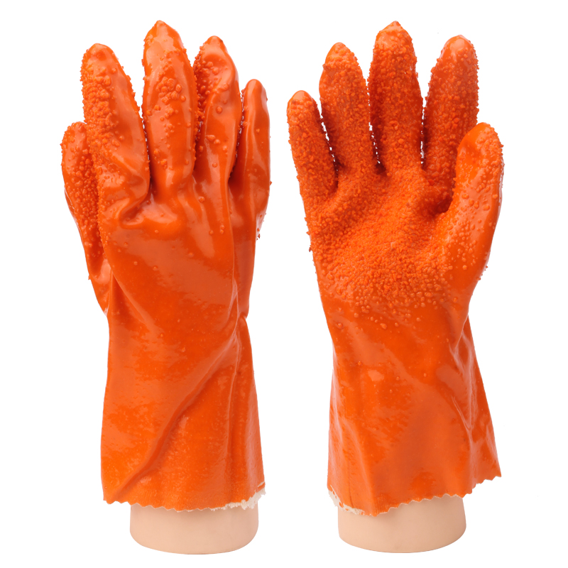 Labor waterproof gloves slip oil resistant protective work wear and oil resistant pvc latex chemical dip
