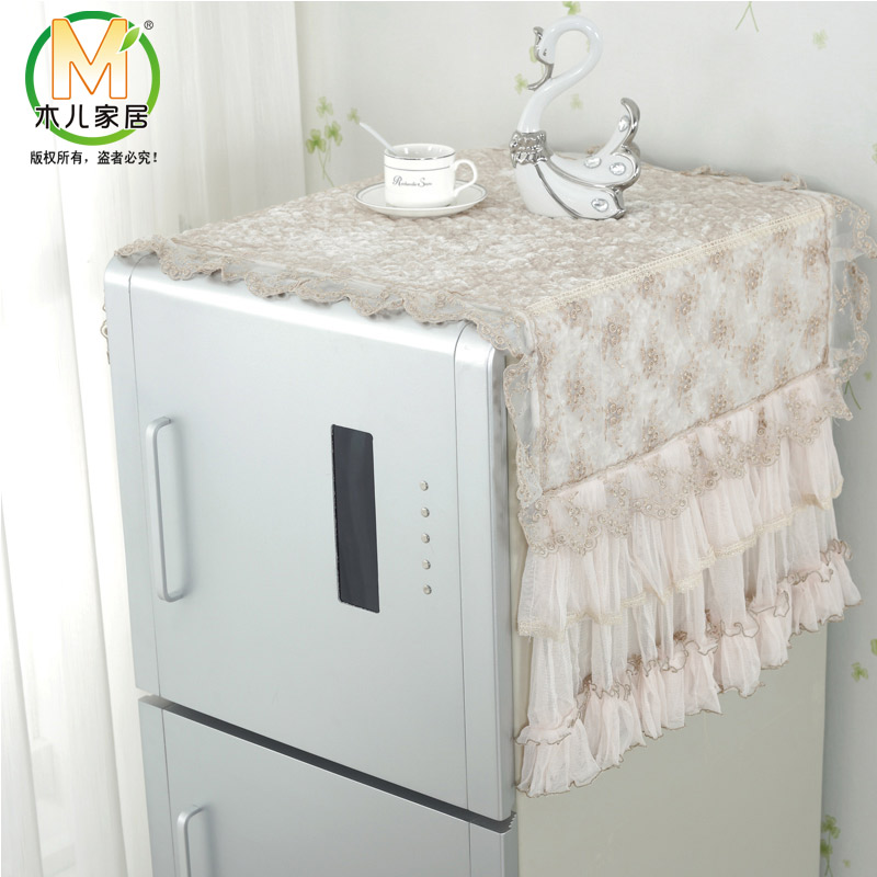 Lace cover refrigerator refrigerator refrigerator dust cover cloth dust cloth dust cloth cover cloth towel single door double door