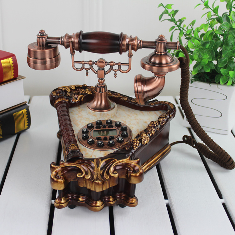Lai sheng european classical european american retro antique telephone antique telephone home decor craft ornaments