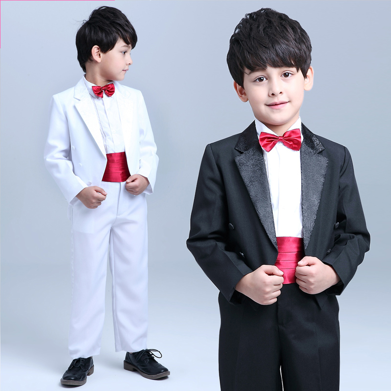 Lan duo boys dress male flower girl dresses piano performance clothing costumes tuxedo suit children suit autumn