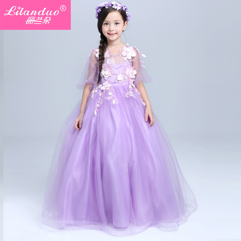 Lan flower girls dress skirt flower girl dresses evening gown dress children's clothing children out clothes long section of the spring and summer wedding