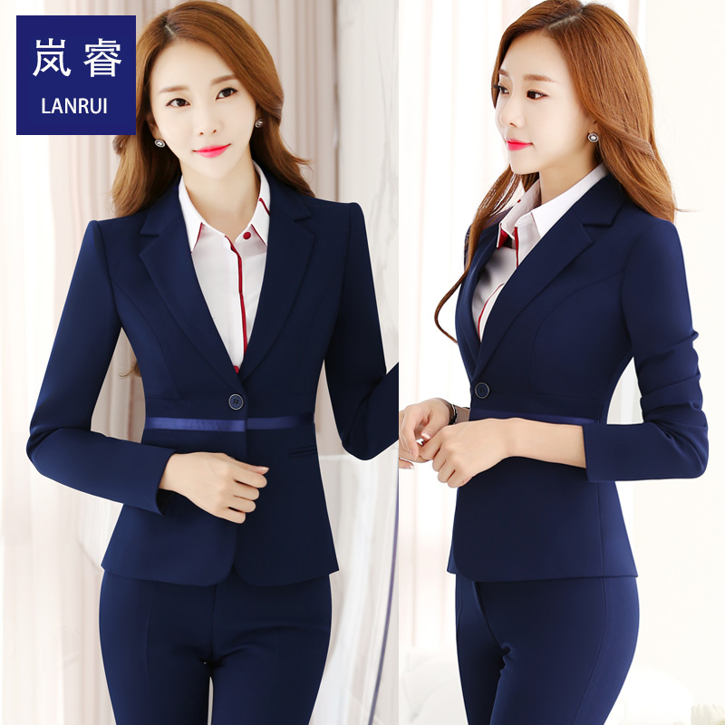 Lan rui 2016 new autumn ladies fashion career suits work clothes temperament waist was thin suit suit