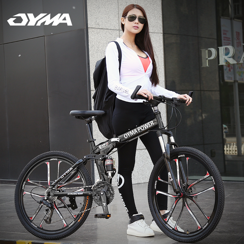 Land rover models octavia horse aluminum mountain bike bicycle speed damping one wheel folding 26 inch bicycle disc brakes