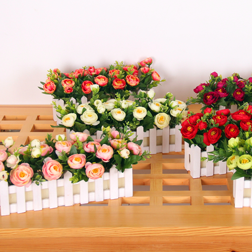 Landsea nepalese simulation peony floral fence fence floral flower showcase showcase partition window decoration decorative flower