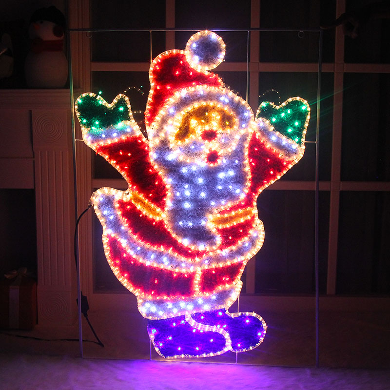 Lang sen 1.2 m large cupboard modeling lamp luminous santa claus santa claus christmas window decoration christmas decoration