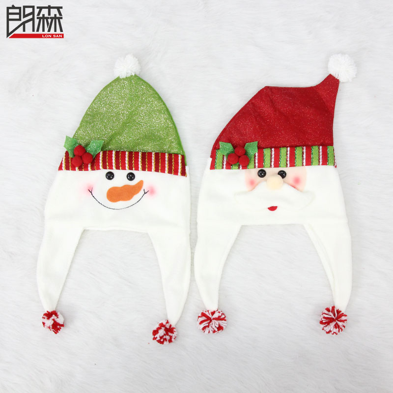 Lang sen christmas snowman christmas hats santa claus hat rty pa cartoon holiday supplies decorative christmas ornaments