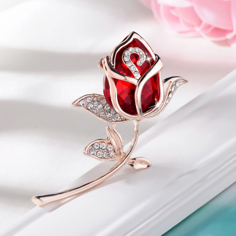 Lanting played good fashion exquisite crystal flower brooch rhinestone brooch pin female jewelry brooch japan and south korea three and fashion