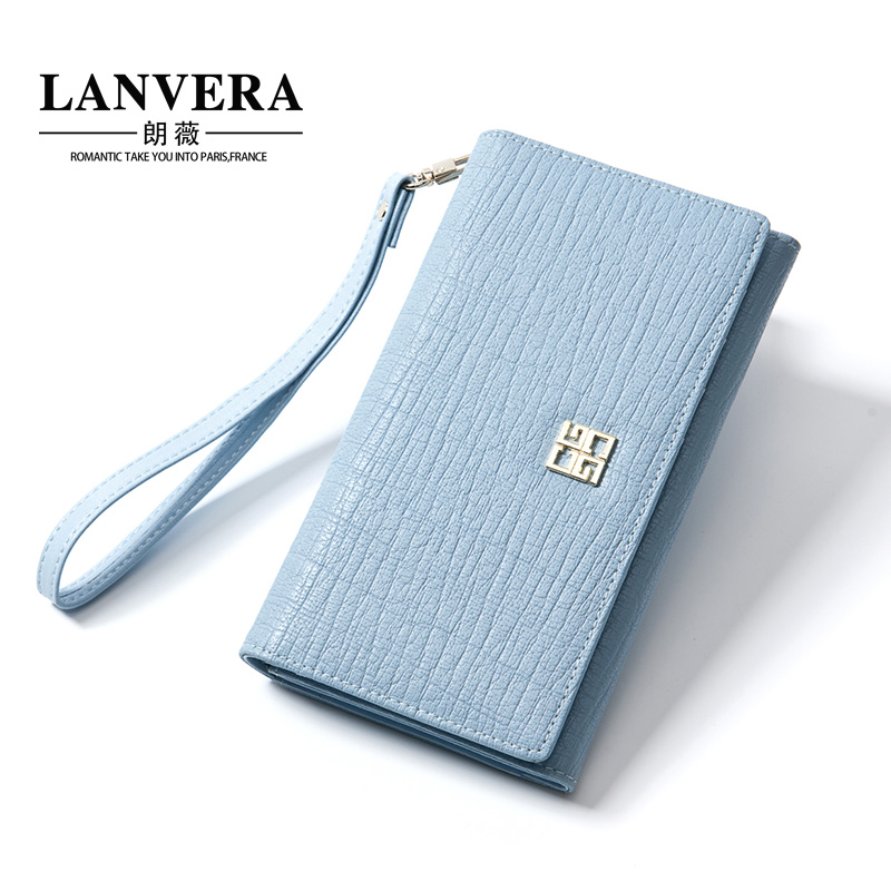 Lanvera lang jorvi japan and south korea the new first layer of leather clutch handbag ms. long wallet leather wallet women wallet